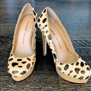 Chinese Laundry Cheetah Print Heels Size 6.5